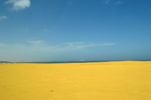 Actual YELLOW sand!