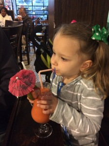Olivia and her juice