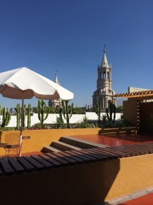 View from our hotel in Arequipa