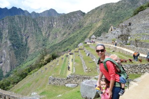 "In front of the ""agricultural area"" of Machu PIcchu"