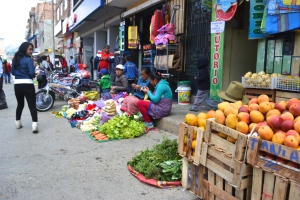 Selling fruits and veggies
