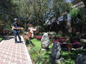 In the museum garden