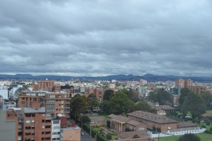 Overlooking Bogotá from the hotel