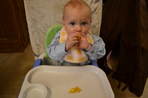 Starting solids around 10 months