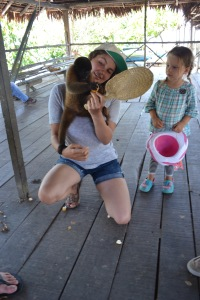 Katelyn and the Monkey