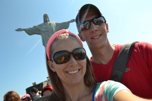 At the top of Mount Corcovado