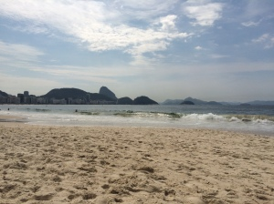View of Sugarloaf from Ipanema Beach
